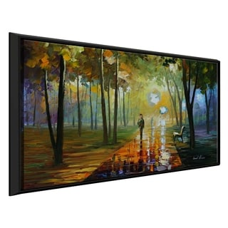 October Reflections ' by Leonid Afremov Framed Oil Painting Print on Canvas