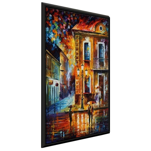 Charming Night ' by Leonid Afremov Framed Oil Painting Print on Canvas