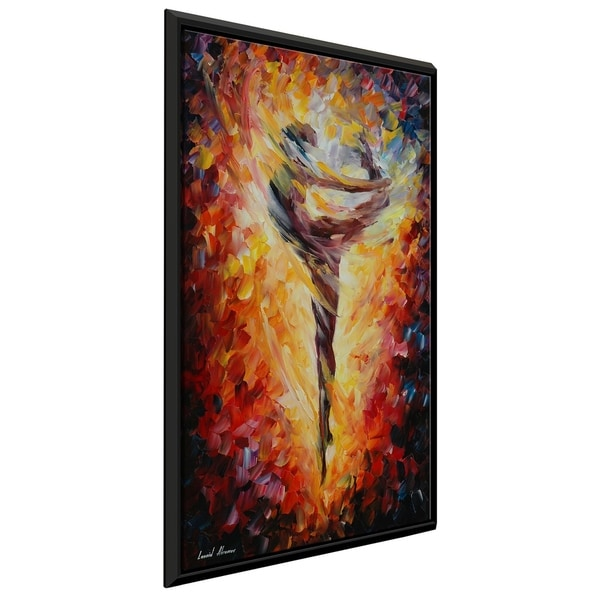 Ballet ' by Leonid Afremov Framed Oil Painting Print on Canvas
