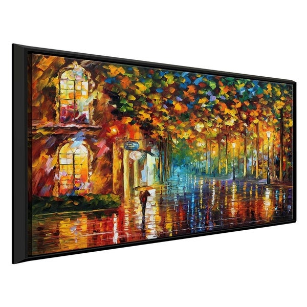 Late Stroll 2 ' by Leonid Afremov Framed Oil Painting Print on Canvas
