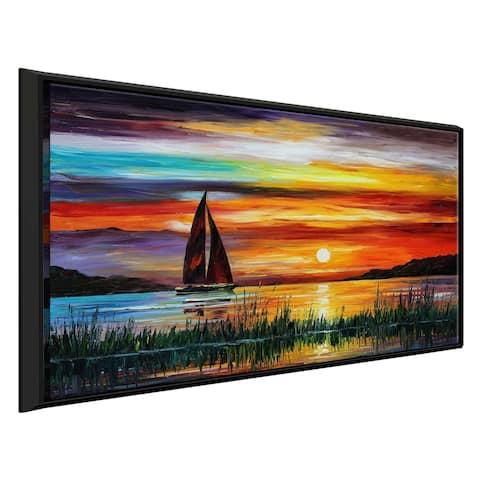Florida-Lake Okeechobee ' by Leonid Afremov Framed Oil Painting Print on Canvas