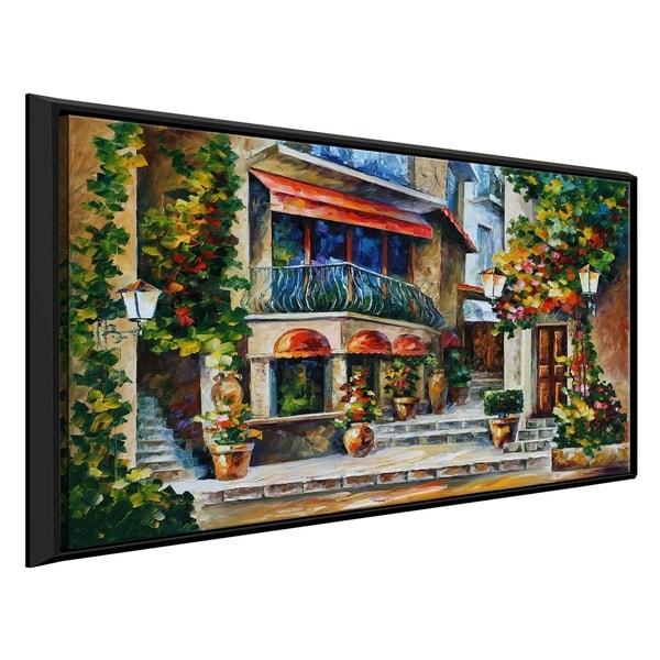 Sicily - Spring Morning ' by Leonid Afremov Framed Oil Painting Print on Canvas