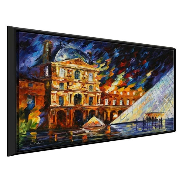 Musee De Louvre ' by Leonid Afremov Framed Oil Painting Print on Canvas