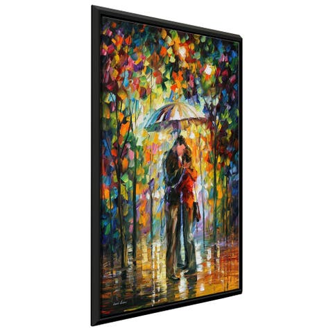 Kiss In The Park ' by Leonid Afremov Framed Oil Painting Print on Canvas