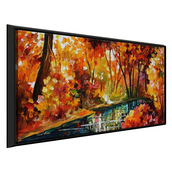 Stream Of Autumn ' by Leonid Afremov Framed Oil Painting Print on Canvas