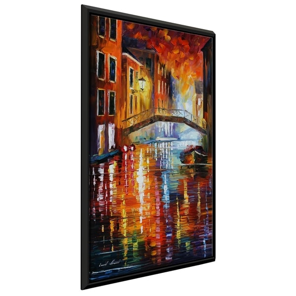 The Canals Of Venice ' by Leonid Afremov Framed Oil Painting Print on Canvas