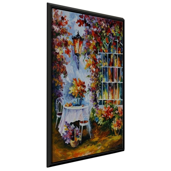 In The Garden ' by Leonid Afremov Framed Oil Painting Print on Canvas