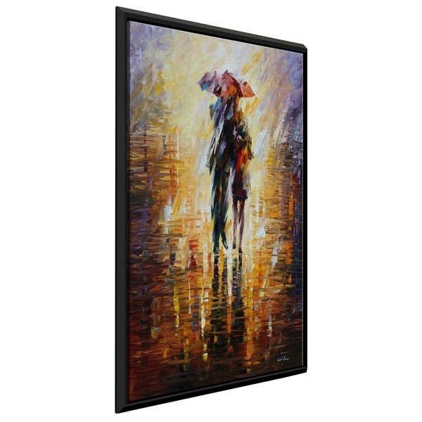 Together In The Storm ' by Leonid Afremov Framed Oil Painting Print on Canvas