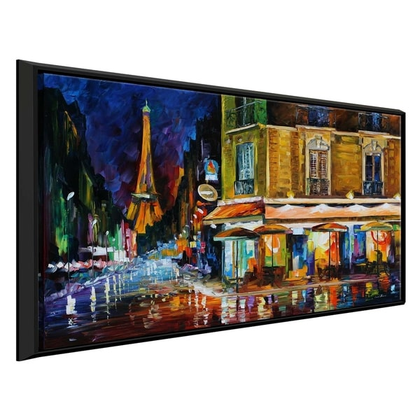 Recruitment Cafe, Paris ' by Leonid Afremov Framed Oil Painting Print on Canvas
