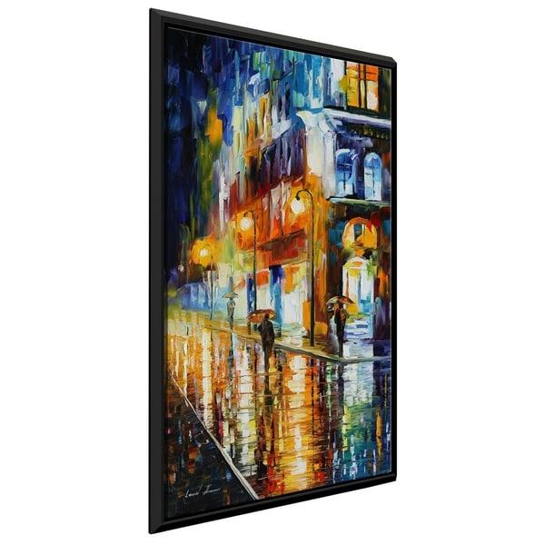 City Of Rain ' by Leonid Afremov Framed Oil Painting Print on Canvas