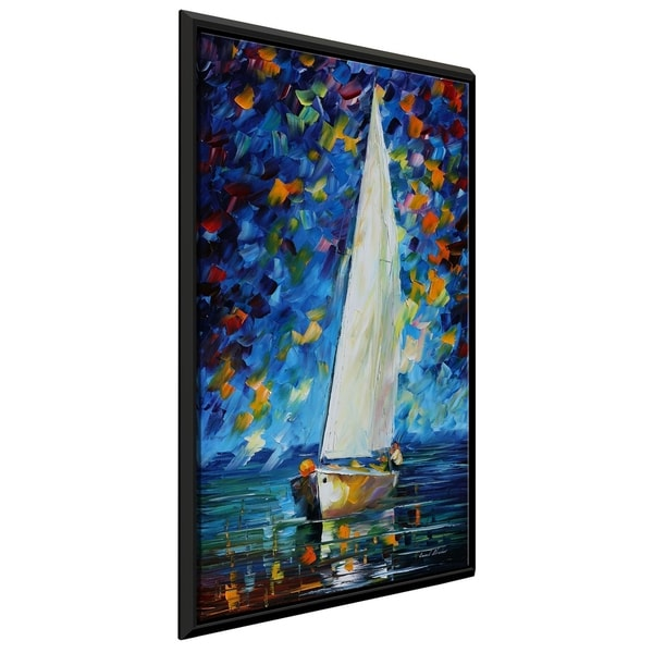 White Sail ' by Leonid Afremov Framed Oil Painting Print on Canvas