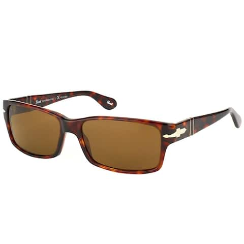 3386c0d5e2d36 Persol Rectangle PO 2803S 24 57 Unisex Havana Frame Crystal Brown Polarized  Lens Sunglasses