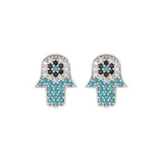 Pori Jewelers Sterling Silver Turquoise Stud Earrings