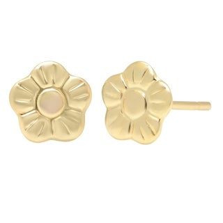Pori Jewelers 14K Solid Gold Floral Stud Earrings BOXED