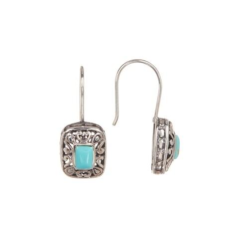 Pori Jewelers Sterling Silver Turquoise Drop Earrings