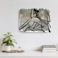Ready2HangArt 'Nude Scribe II' Wrapped Canvas Art - Grey
