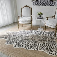 "Erin Gates by Momeni Acadia Cheetah Multi Hand Woven Wool Area Rug - 5'3"" x 7'10"""