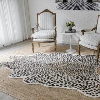 "Erin Gates by Momeni Acadia Cheetah Multi Hand Woven Wool Area Rug 5'3"" X 7'10"" - 5'3"" X 7'10"""