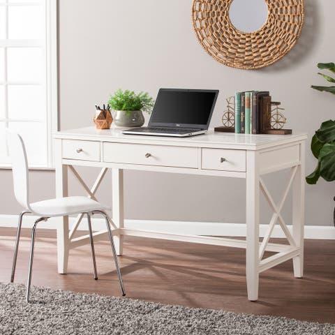 Larkmont White Writing Desk
