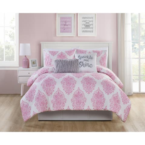 VCNY Home Love the Little Things Reversible Comforter Set