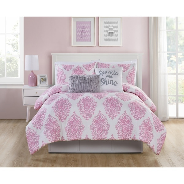 VCNY Home Love the Little Things Reversible Comforter Set. Opens flyout.