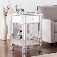 Haper Blvd Vedlin Matte Silver Mirrored Side Table