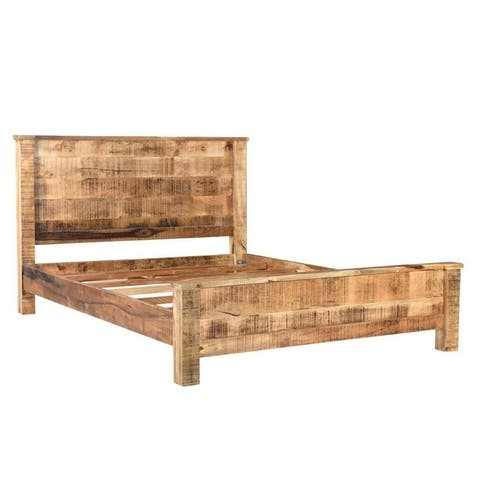 Handmade Agra Solid Wood Bed (India)