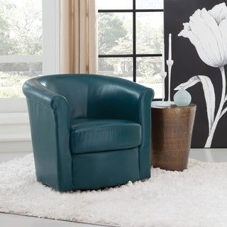Shop Christopher Knight Home Daymian Faux Leather Swivel