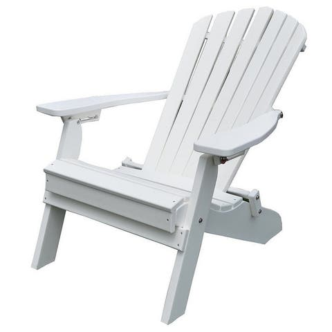Folding and Reclining Recycled Plastic Fanback Adirondack Chair