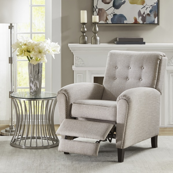 Shop Madison Park Hamling Grey Recliner Chair Free