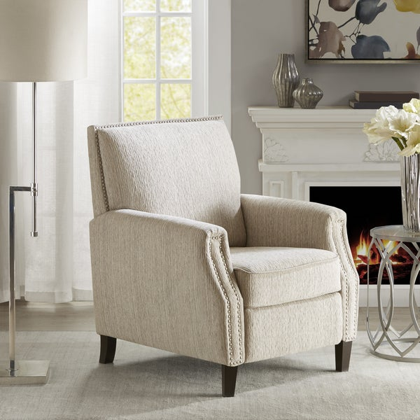 Shop Madison Park Gleeson Beige Recliner Chair Free