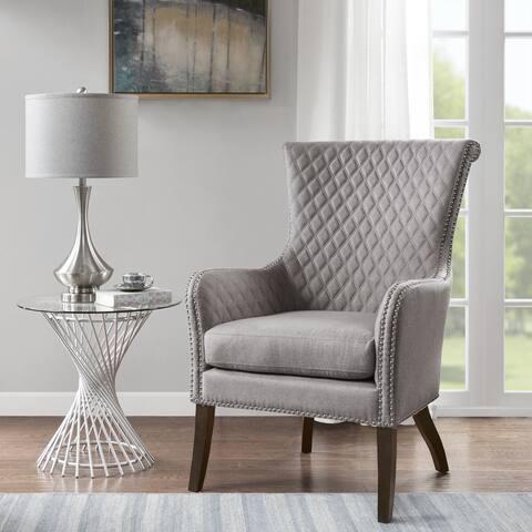 Madison Park Lea Light Grey Accent Chair