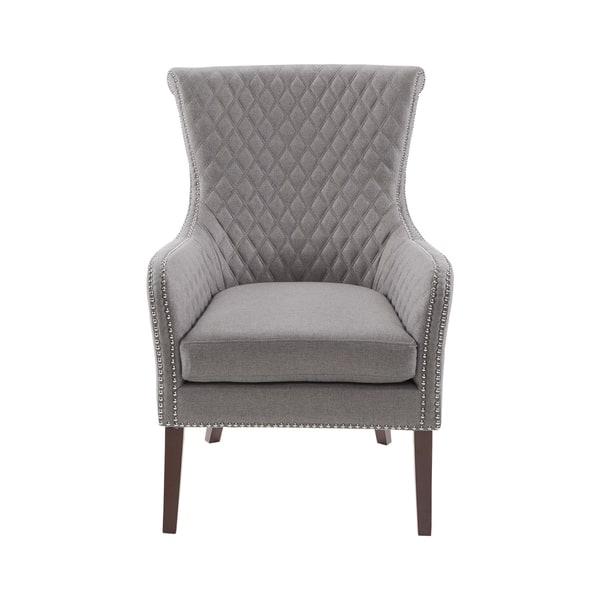 Super Shop Madison Park Lea Light Grey Accent Chair On Sale Ibusinesslaw Wood Chair Design Ideas Ibusinesslaworg