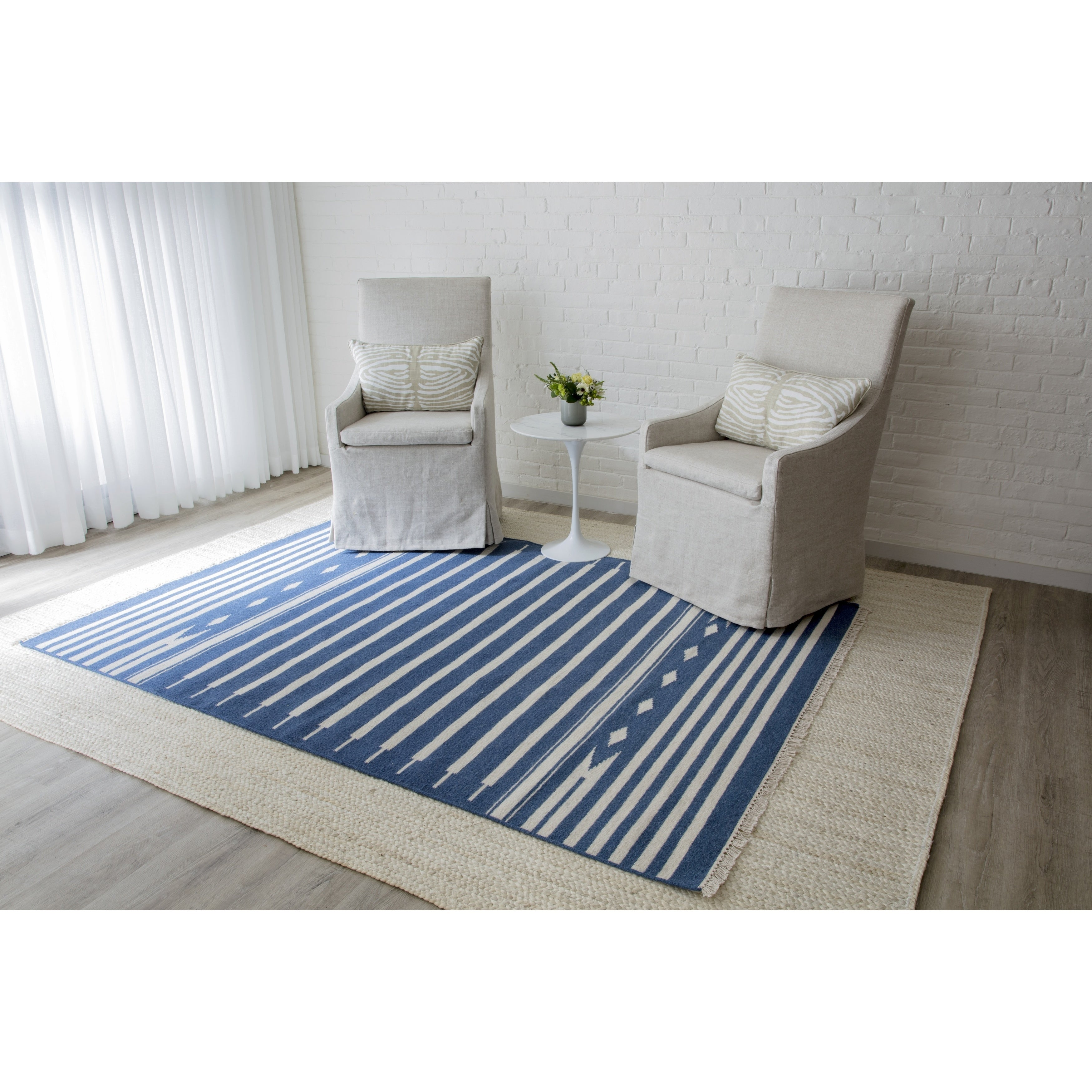 Erin Gates by Momeni Thompson Billings Hand-woven Wool Area Rug (Grey - 76 x 96)