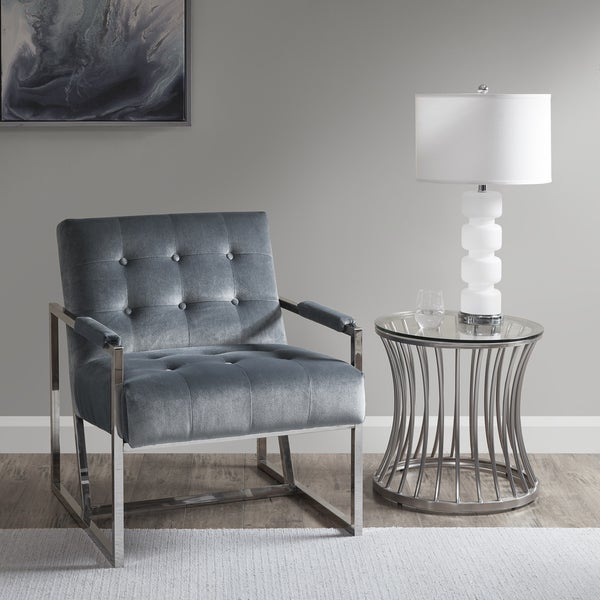 Shop Madison Park Rory Blue Accent Chair Free Shipping