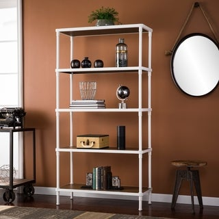 Harper Blvd Lavra White 5-Tier Bookcase
