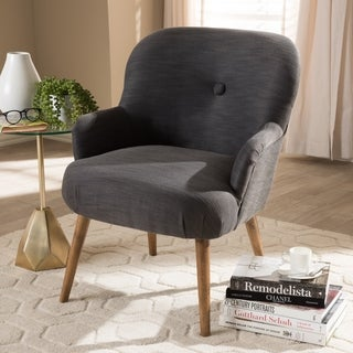 Shop Millani Gray Linen Modern Lounge Stool Free