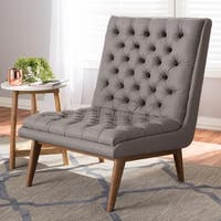 Mid-Century Upholstered Lounge Chair by Baxton Studio
