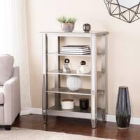 Harper Blvd Vedlin Matte Silver Mirrored 4-Tier Bookcase