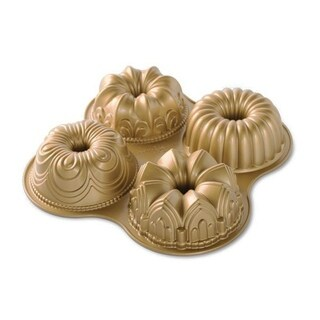 Nordic Ware Bundt Quartet Pan - GOLD