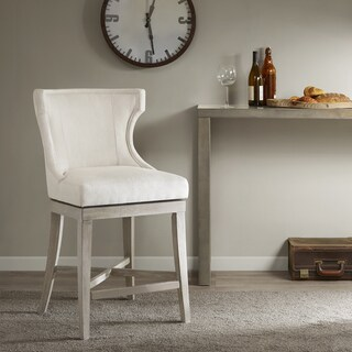 Madison Park Fillmore Cream Counter Stool With Swivel Seat