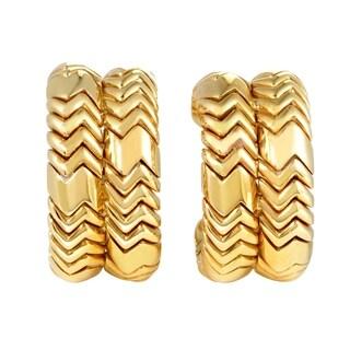 Bvlgari Spiga Yellow Gold Clip-on Earrings