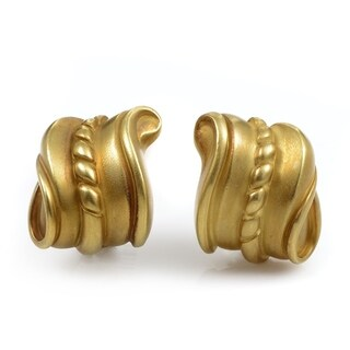 Kieselstein-Cord Yellow Gold Carved Earrings