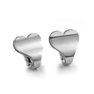 Roger Dubuis White Gold Diamond Heart Earrings