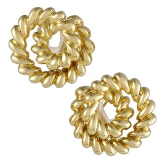 Pre-Owned Tiffany & Co. Yellow Gold Cable Swirl Earrings
