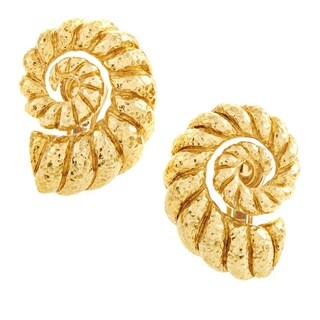 David Webb Women's Yellow Gold Coiled Rope Clip-on Earrings