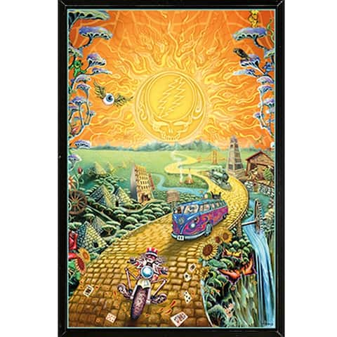 Grateful Dead - Golden Road Poster with Choice of Frame (24x36)