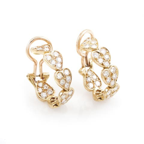 Cartier Virgo Rose Gold Diamond Heart Earrings