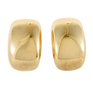 Womens Yellow Gold Wide Clip-on Earrings