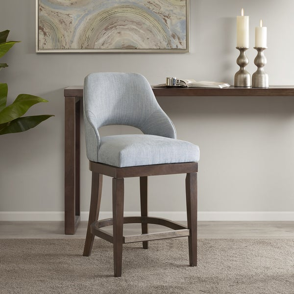 Shop Madison Park Marshall Blue Counter Stool With Swivel